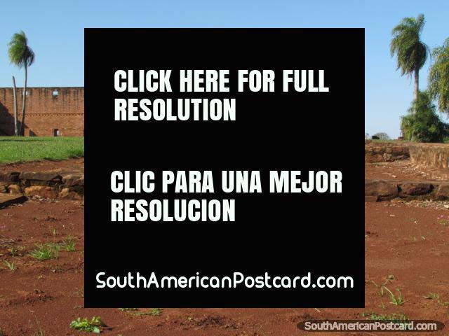 Building foundations at the Jesus of Tavarangue Jesuit ruins near Encarnacion. (640x480px). Paraguay, South America.
