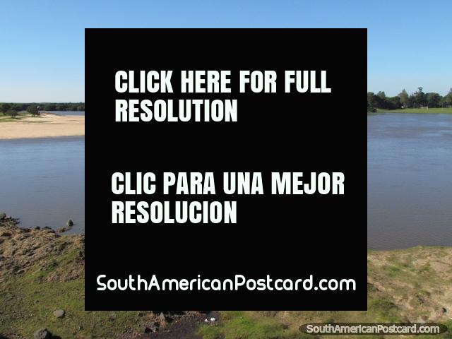 A pair of small boats on the Tebicuary River in Villa Florida. (640x480px). Paraguay, South America.