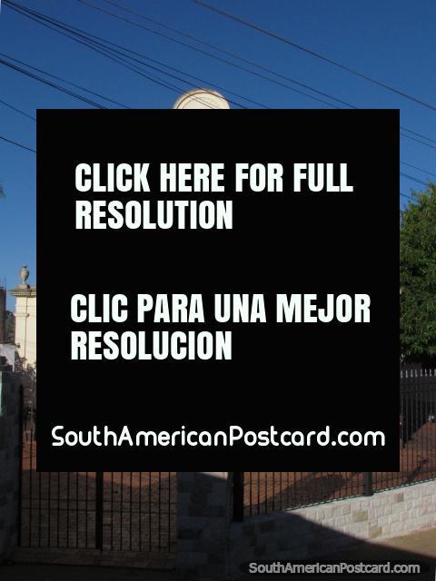 Oratorio San Blas in Carapegua, historic white church. (480x640px). Paraguay, South America.