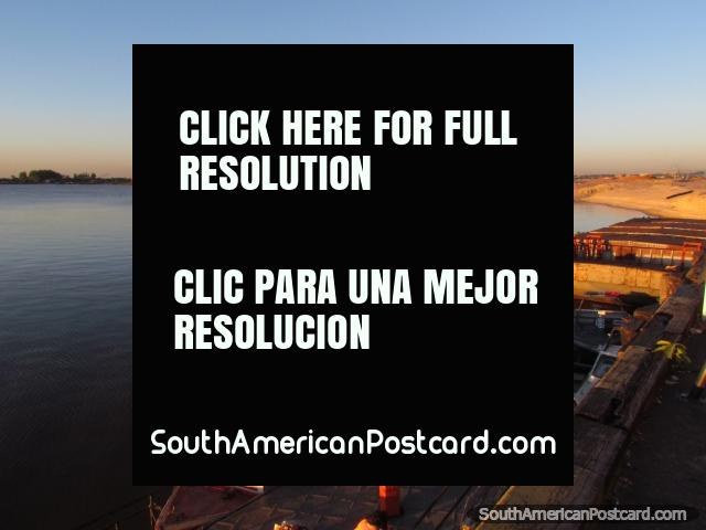 The port on the Paraguay River in Asuncion. (640x480px). Paraguay, South America.