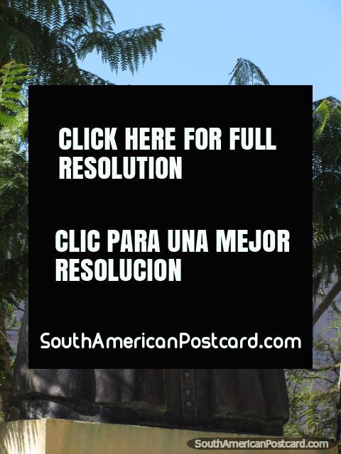 Pbro Juan B. Colman, bust in Asuncion. (480x640px). Paraguay, South America.