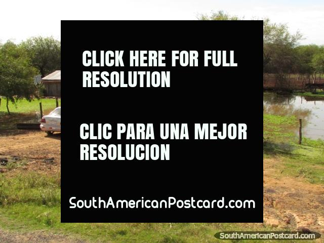 A typical property in the Gran Chaco. (640x480px). Paraguay, South America.
