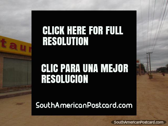 Restaurant and Supermarket Boqueron in Filadelfia. (640x480px). Paraguay, South America.