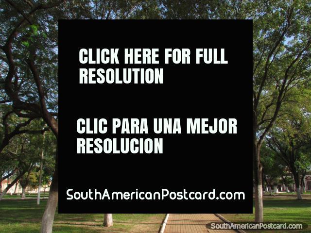 Plaza de la Libertad (Liberty Square), park in Concepcion. (640x480px). Paraguay, South America.