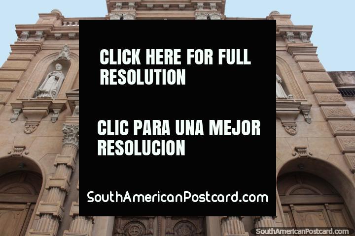 Parroquia San Francisco, gothic church in Asuncion. (720x480px). Paraguay, South America.