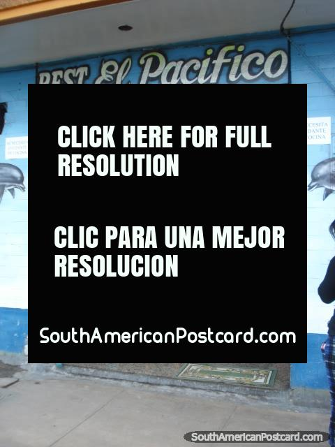 Restaurant El Pacifico in Camana serve great food! (480x640px). Peru, South America.