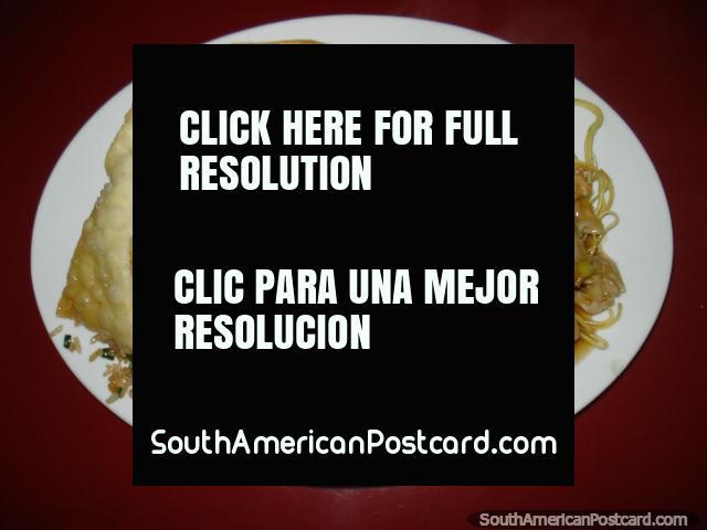 Chinese food in Camana at Restaurant Chifa Kwang Chow. (640x480px). Peru, South America.