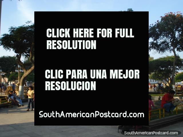 Pisco, Plaza de Armas. (640x480px). Peru, South America.