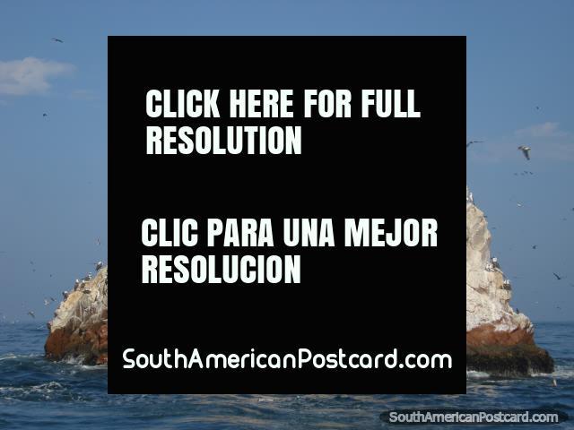 Amazing rock islands that the birds love at Islas Ballestas. (640x480px). Peru, South America.