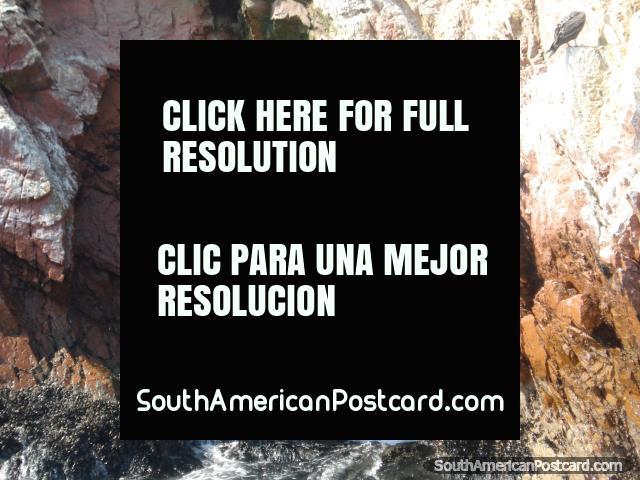 Rock caves at the Islas Ballestas in Pisco. (640x480px). Peru, South America.