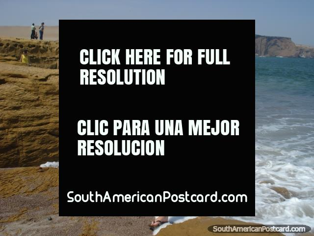 Cool your feet off at red-stone beach in Paracas, Pisco. (640x480px). Peru, South America.