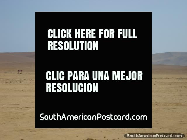 In 2007 the earthquake in Pisco created a tsunami at Paracas pushing this boat several kms inland. (640x480px). Peru, South America.
