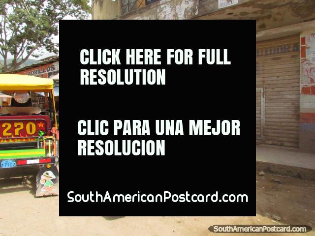 Mototaxis in Jaen. (640x480px). Peru, South America.