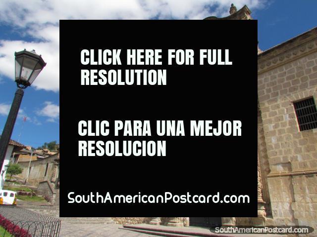 Stone church at Plazuela Belen in Cajamarca. (640x480px). Peru, South America.