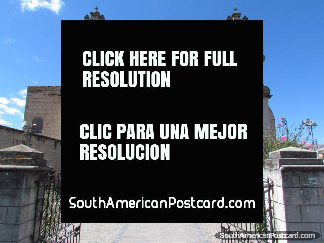 Stone Recoleta Church in Cajamarca. (640x480px). Peru, South America.