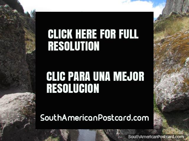 Ancient aqueducts and waterways at Cumbemayo near Cajamarca. (640x480px). Peru, South America.