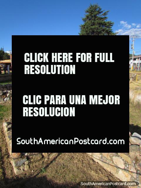 Archaeological zone at Banos del Inca in Cajamarca. (480x640px). Peru, South America.