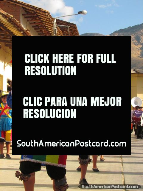 The most colorful of Peruvian costumes in Huamachuco. (480x640px). Peru, South America.
