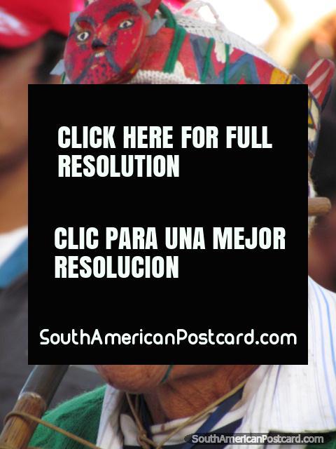 Peruvian Indian face, Feria Patronal, Huamachuco. (480x640px). Peru, South America.