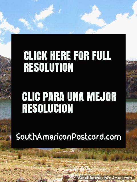 Emerald lagoon near Huamachuco. (480x640px). Peru, South America.