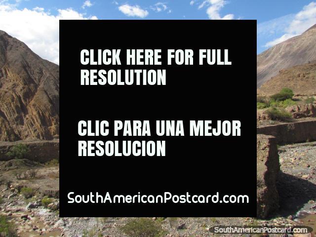 Traveling on the rough terrain in Peru's northern highlands. (640x480px). Peru, South America.