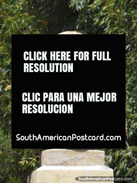 Military Leader - Jose de la Mar monument in Huaraz.  (480x640px). Peru, South America.