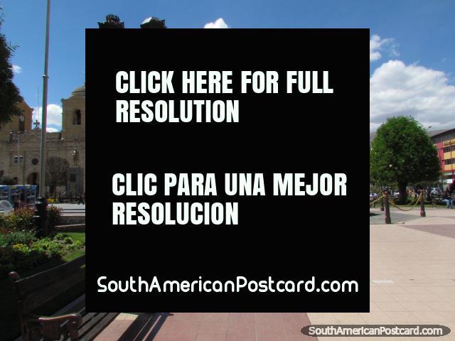 Plaza Constitucion in Huancayo. (640x480px). Peru, South America.