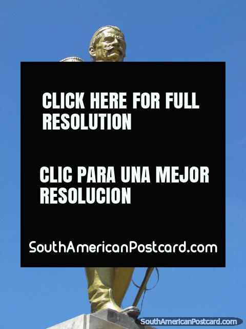 Ramon Castilla (1797-1867) monument in Huancayo, 4 times President of Peru. (480x640px). Peru, South America.