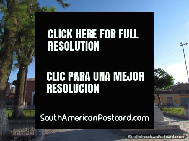 Plaza Maria Parado de Bellido in Ayacucho. (640x480px). Peru, South America.