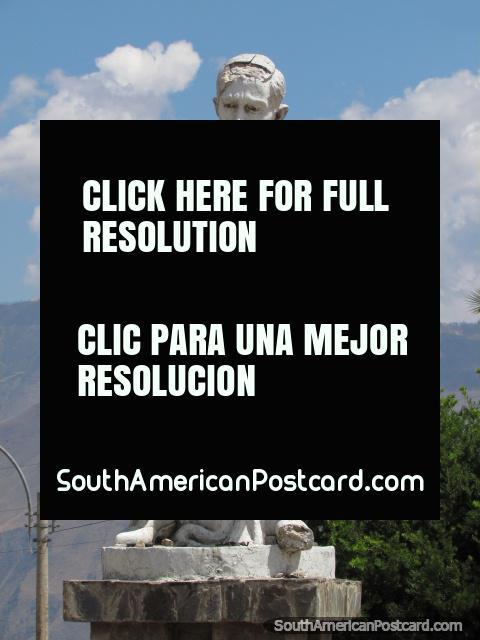 Jose Carlos Mariategui wrote the Seven Interpretive Essays on Peruvian Reality, monument in Abancay. (480x640px). Peru, South America.