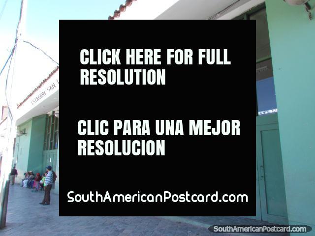 Estacion San Pedro, Cusco train station, trains to Machu Picchu. (640x480px). Peru, South America.