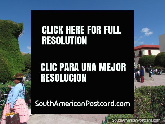 O Praça de Armas de Puno. (640x480px). Peru, América do Sul.