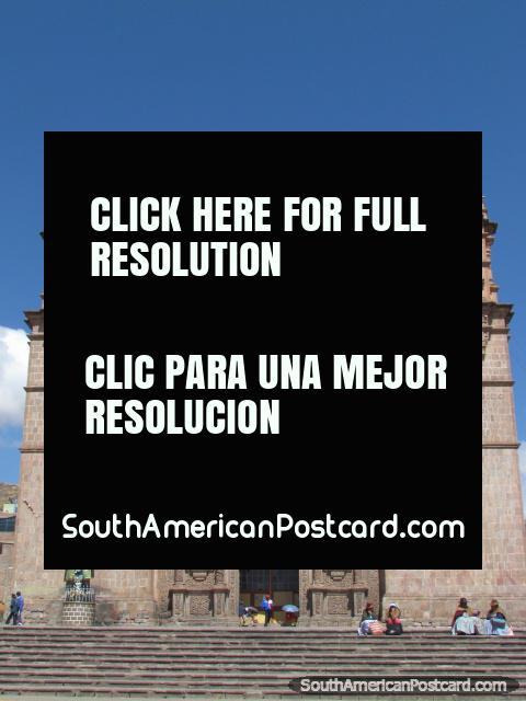 Catedral Basilica San Carlos Borromeo, Puno Cathedral. (480x640px). Peru, South America.