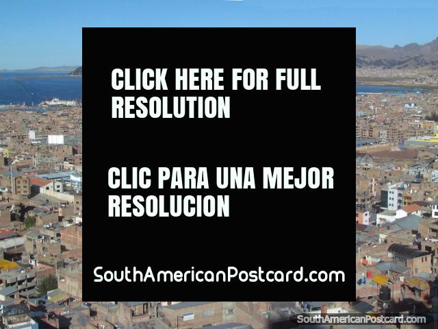 Puno / Juliaca, Peru - Lake Titicaca Provides A Beautiful Setting. Puno more than Juliaca is a really nice part of Peru beside Lake Titicaca! You can spend a few days enjoying this area. Puno is like the gateway down to Copacabana in Bolivia.