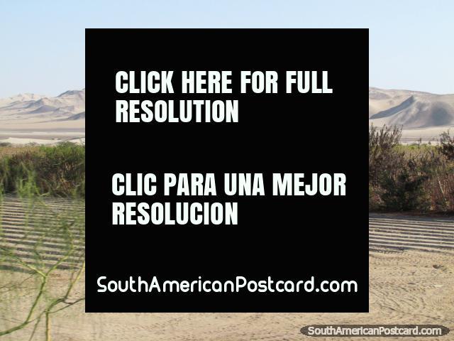 Paisajes arenosos entre Guadalupe y Pisco. (640x480px). Peru, Sudamerica.