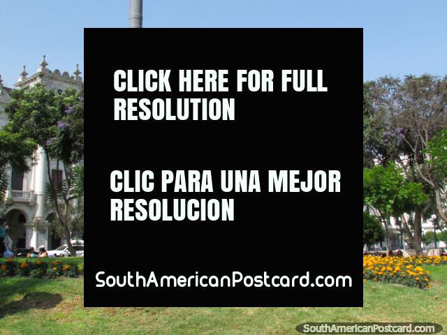 Uma parte bonita da cidade em Lima - Parque San Martin. (640x480px). Peru, América do Sul.