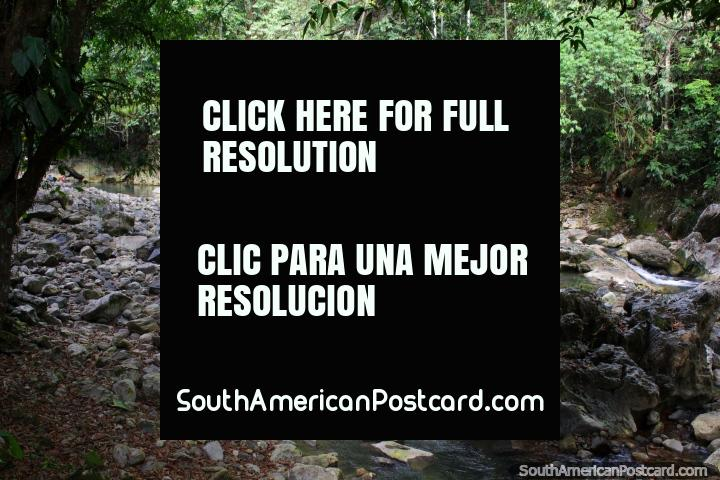 Rocky river at Spa - Cave of the Pavas in Tingo Maria. (720x480px). Peru, South America.