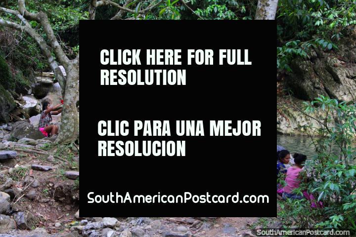 The lagoon of women, no man dare enter, Balneario Cueva de las Pavas, Tingo Maria. (720x480px). Peru, South America.