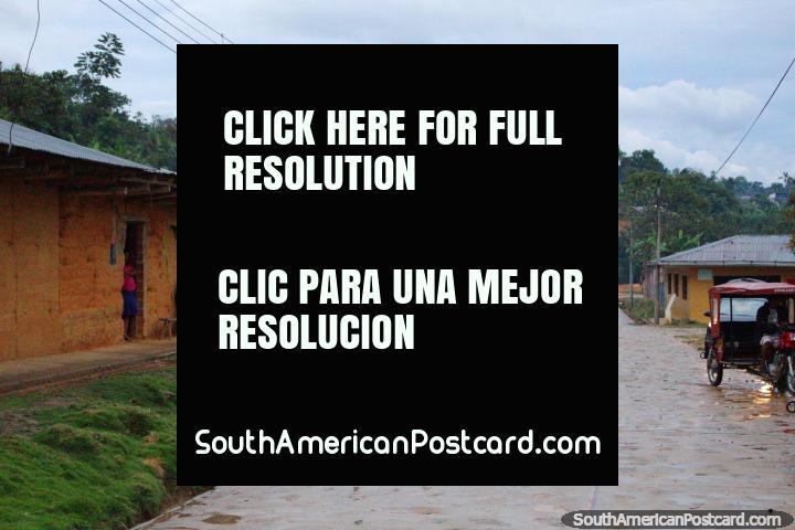Cobblestone street in Wayku, an indigenous neighborhood of Lamas, down from the main town. (720x480px). Peru, South America.