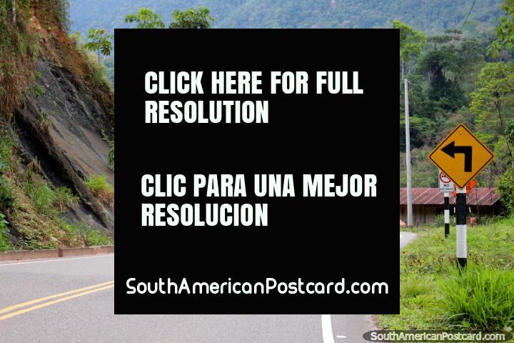 Paved road through the Cordillera Escalera, north from Tarapoto to Yurimaguas. (720x480px). Peru, South America.