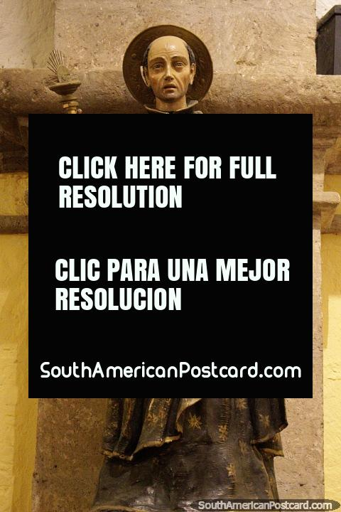 Religious figure, statue at the chapel at the mansion of the founder of Arequipa. (480x720px). Peru, South America.