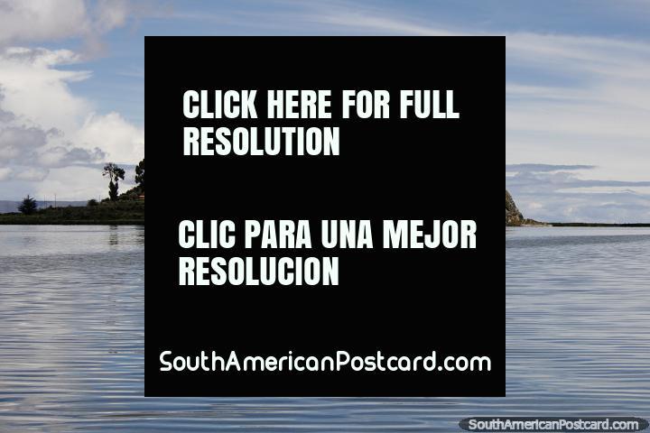 Libertador Hotel on an island overlooking Lake Titicaca in Puno. (720x480px). Peru, South America.