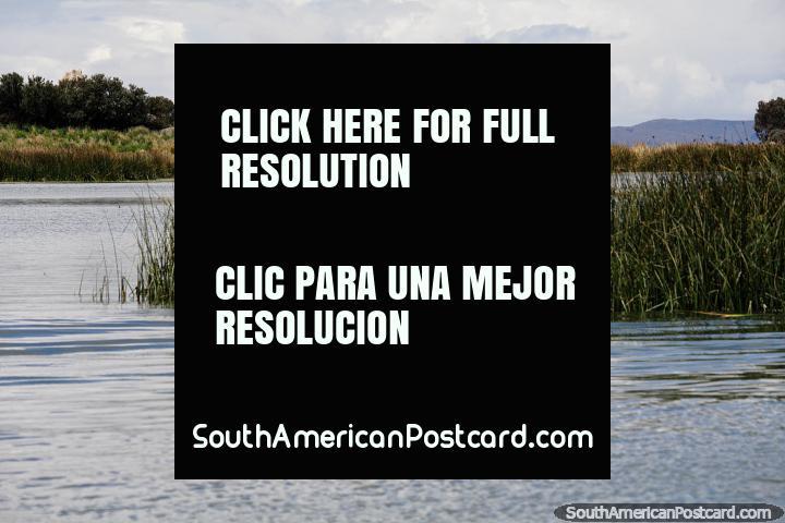 Seixos rolados junto do Lago Titicaca, a caminho de Puno as ilhas flutuam. (720x480px). Peru, América do Sul.