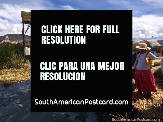 Hasta la vista bebe is what they said as we departed Summa Willjta Island at Lake Titicaca, Puno. (640x480px). Peru, South America.