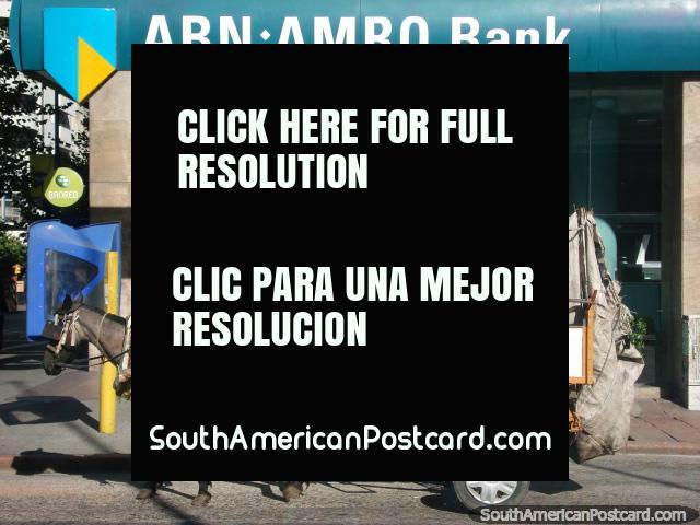 Contemplar roubo do banco em cavalo e carreta possivelmente? Montevidéo. (640x480px). Uruguai, América do Sul.
