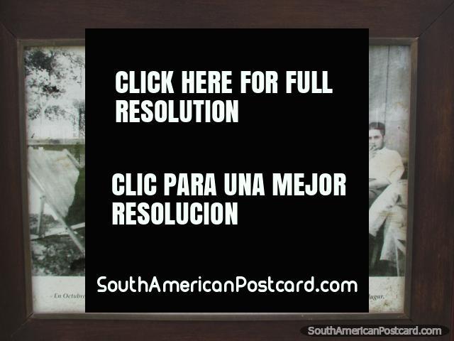 Photo of tango legend Carlos Gardel visiting the park at Paysandu port in 1933. (640x480px). Uruguay, South America.