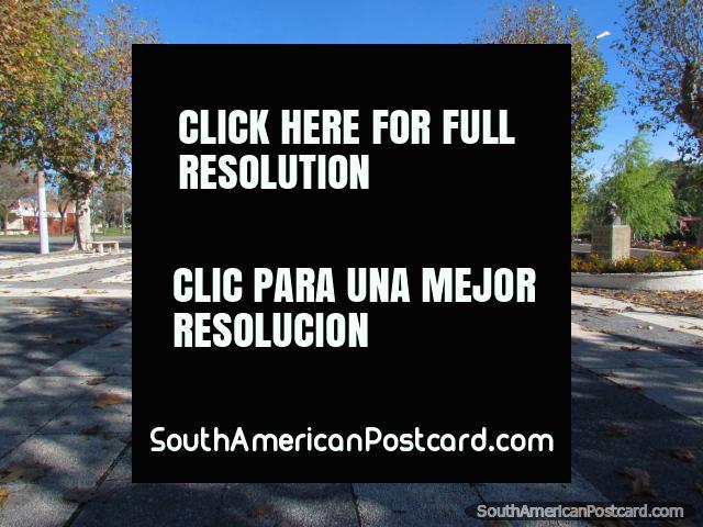 Plaza Sociedad Amigos de la Educacion Popular 1868 in Mercedes. (640x480px). Uruguay, South America.