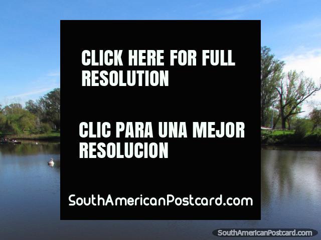 The beautiful Rio Negro river in Mercedes. (640x480px). Uruguay, South America.