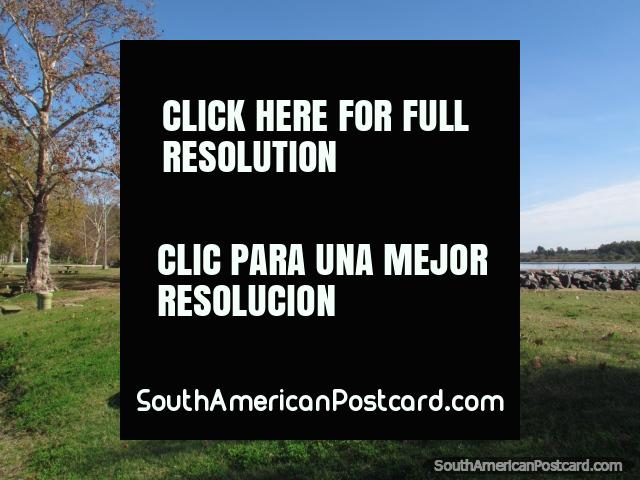 Scenic and peaceful park  beside the river - Port Island in Mercedes. (640x480px). Uruguay, South America.