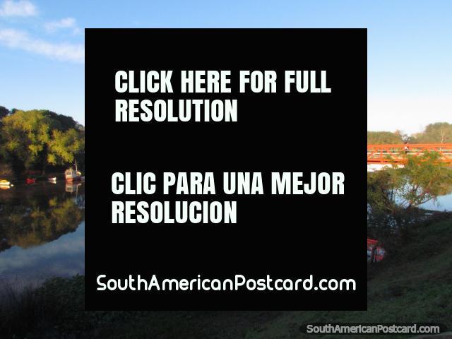 Puerte Giratorio de Carmelo, orange swing bridge built in 1912, Carmelo. (640x480px). Uruguay, South America.